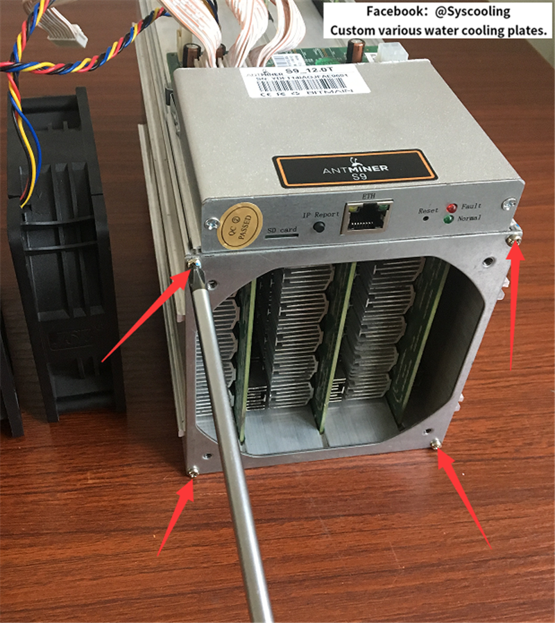 Genernal water coolling solution for AntMiner S9 S7 D3 L3+