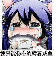 伤心地吃着咸鱼