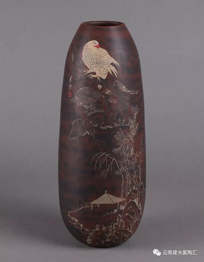 云南建水紫陶向进兴作品欣赏花瓶