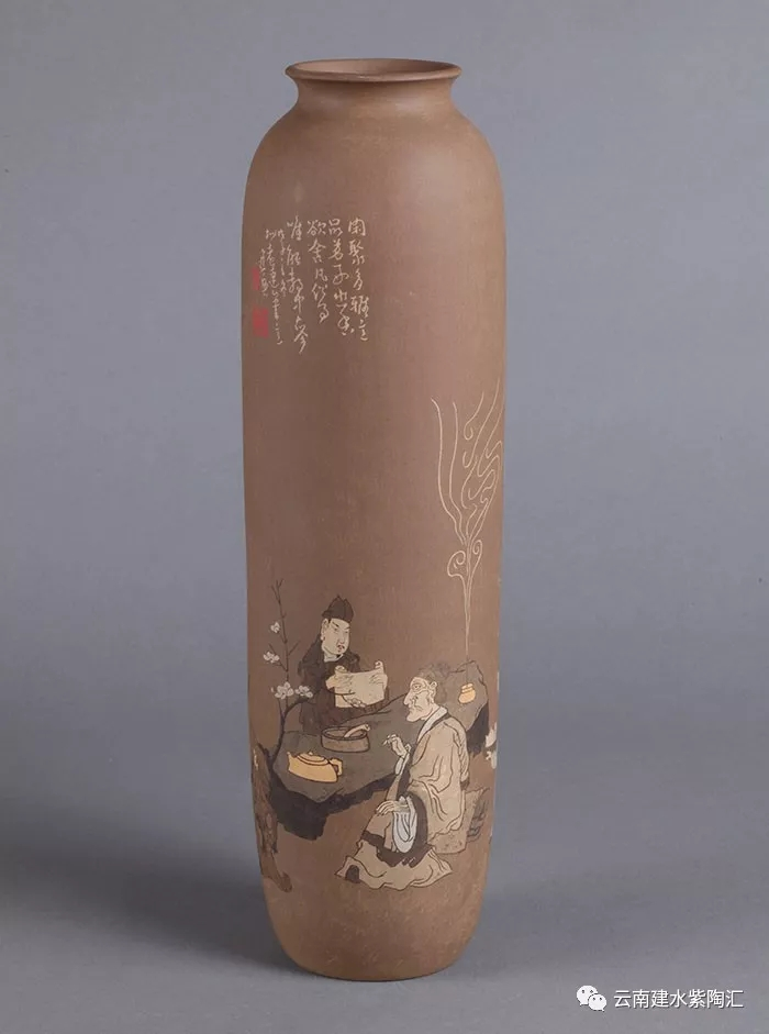 建水紫陶精品欣赏花瓶