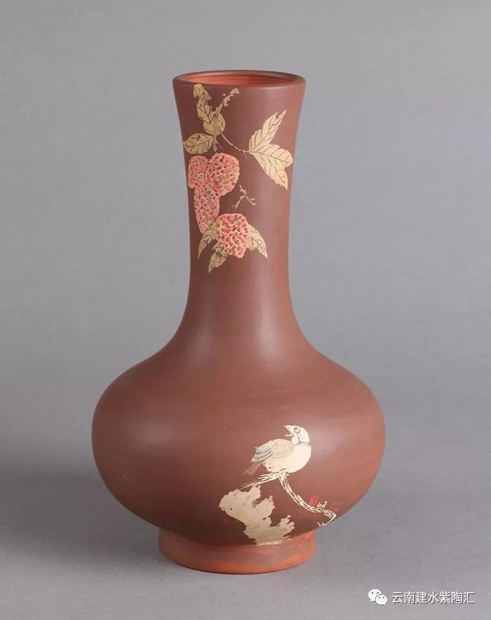 建水紫陶名家向进兴花瓶