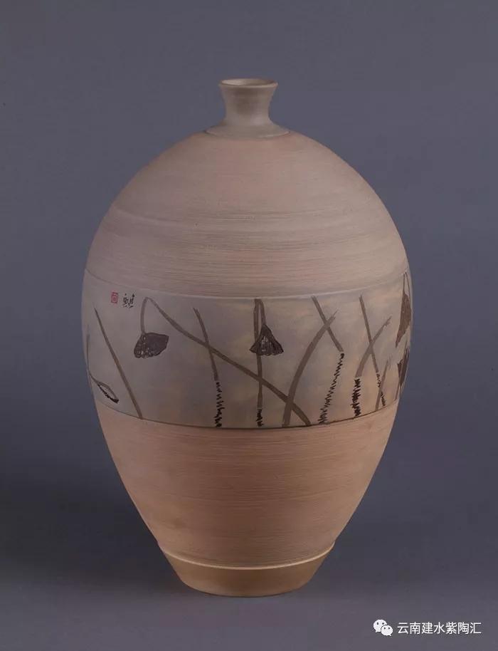 建水紫陶大师作品欣赏花瓶