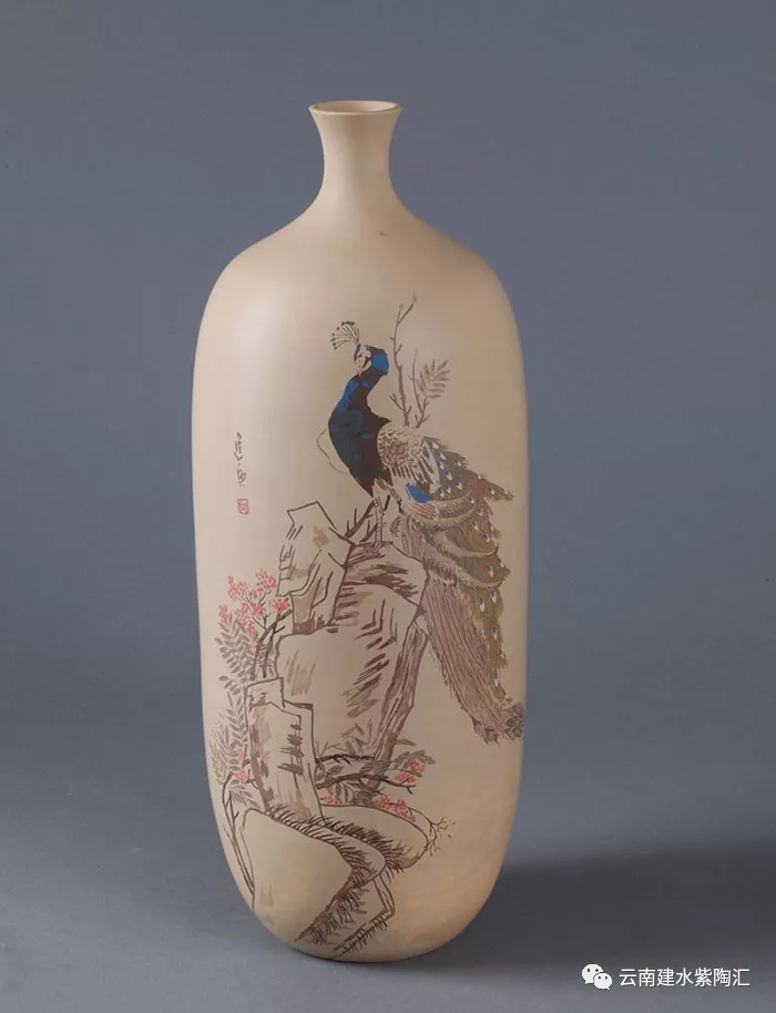 建水紫陶大师名家向进兴作品欣赏花瓶