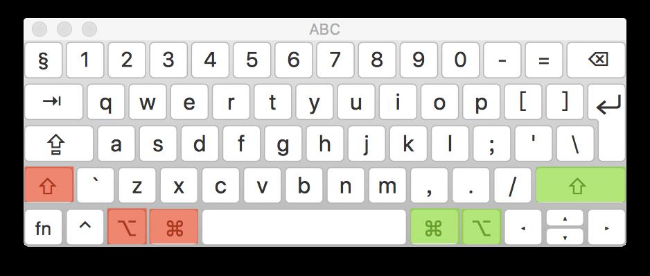 三个功能键作为快捷键的布局
