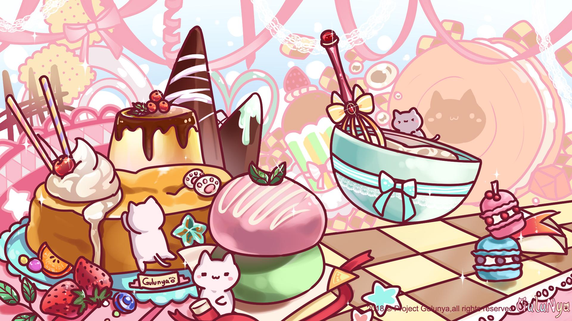 咕噜喵壁纸配布-甜点喵