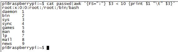 Linux文字格式化sed,awk