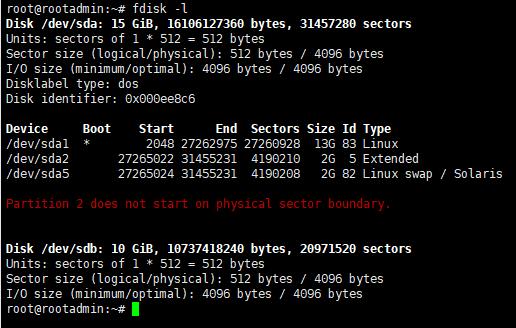 Linux挂载新硬盘