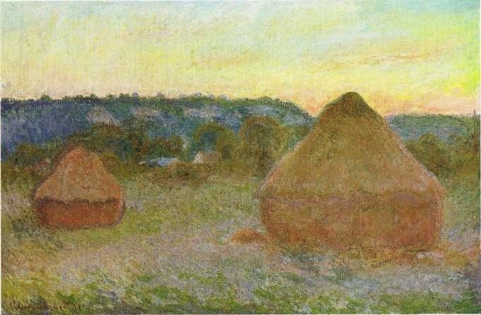 1270 Wheatstacks, 1890 91, 65.8 x 101 cm, 25 7 8 x 39 3 4 in, The Art Institute of Chicago