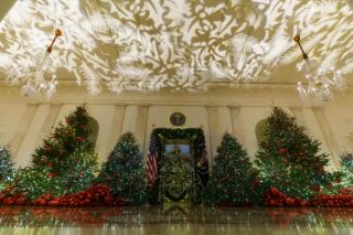 白宫节日色彩迷人