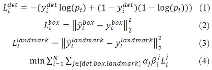 MTCNN loss function