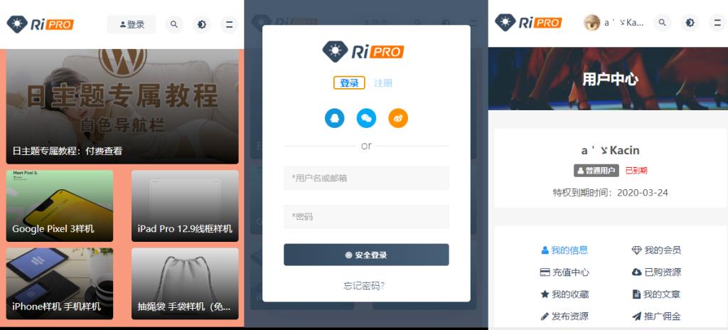 日主题(RiPro主题)最新6.3.8破解免授权版本发布