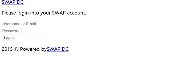 swapidc后台免云中心登陆模板