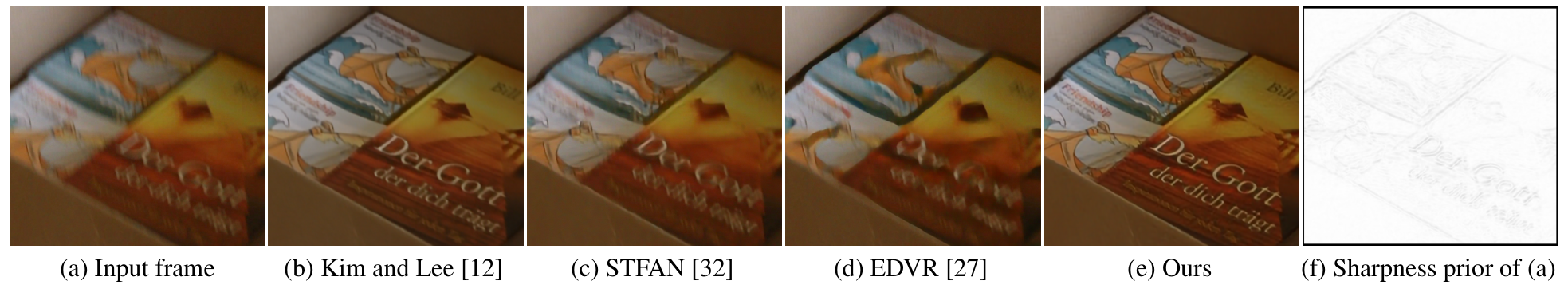 Figure 1. Deblurred result on a real challenging video.