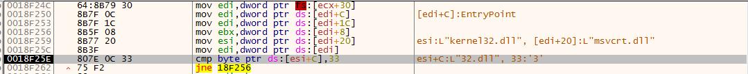 图片27 定位kernel32.dll