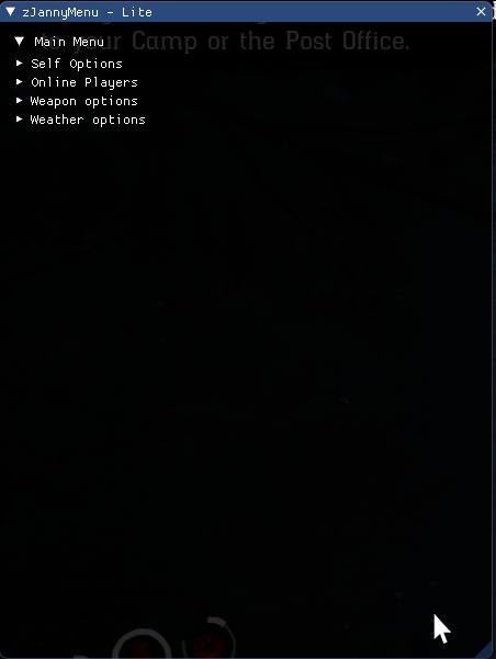 荒野大镖客2免费辅助zJannyMenu Lite Alpha 0.1 4月4日更新日志