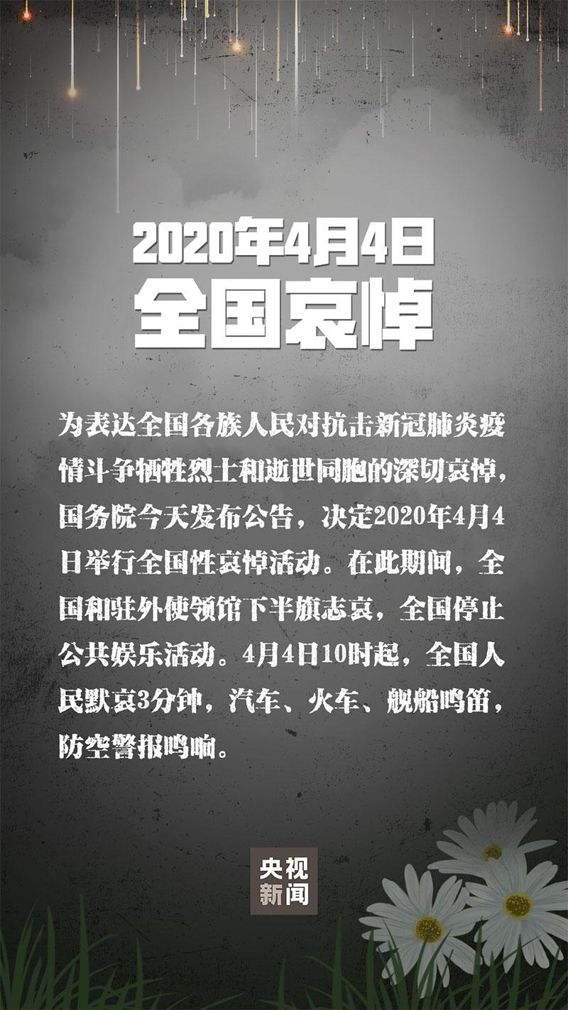 2020.4.4今年清明节默哀敬似去的同胞(一起携手抵抗病毒)