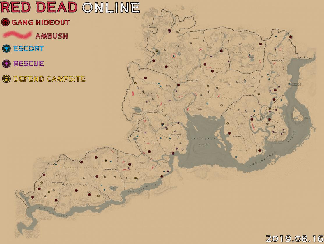 荒野大镖客2辅助查询4月6日每日任务流程攻略地图