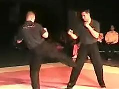 在线学习散打教程拳法组合加步法_散打皇帝康李散手教程
