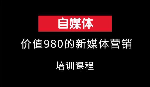 嗨推价值980的新媒体营销培训视频