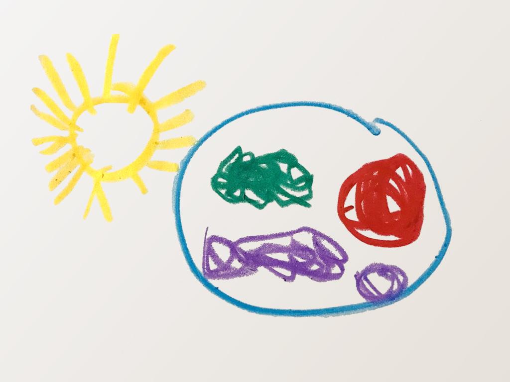 太阳与被晒晕的地球