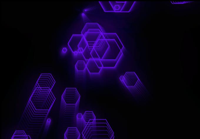 canvas六边型酷科技特效HTML单页源码