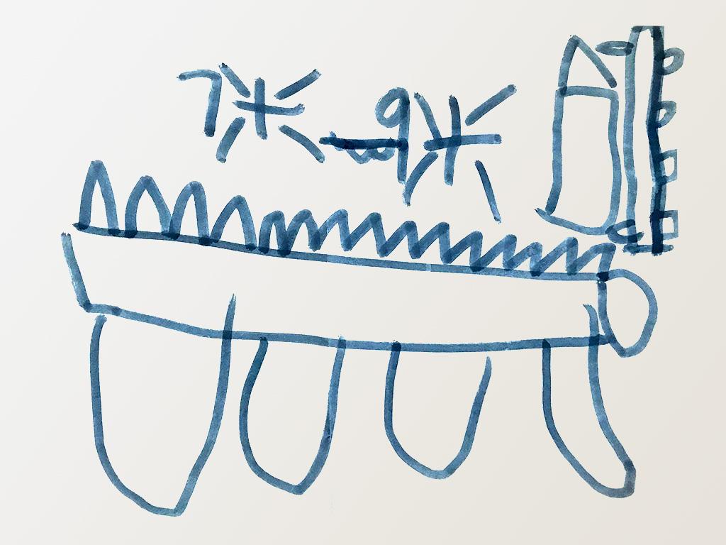 背上有尖刺的古代巨兽