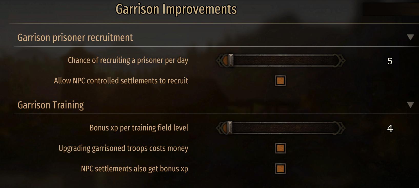 驻军大修-训练招募[Garrison Improvements]
