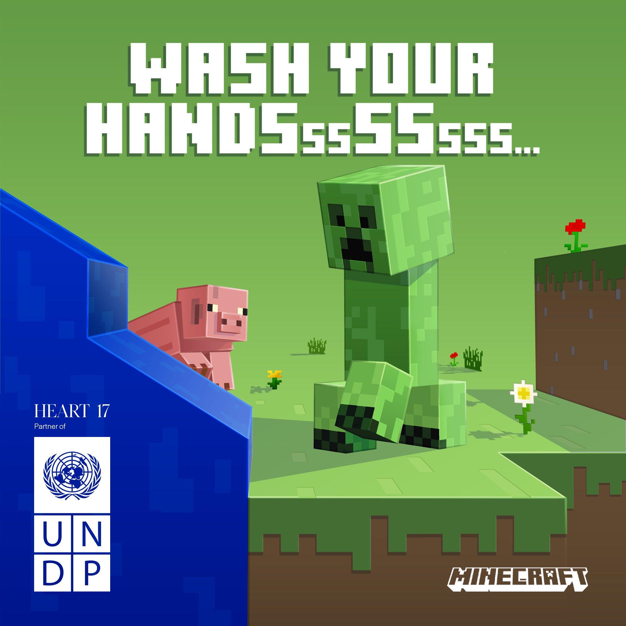 为抗疫助力:《Minecraft》联合联合国组织推COVID-19 PSA运动