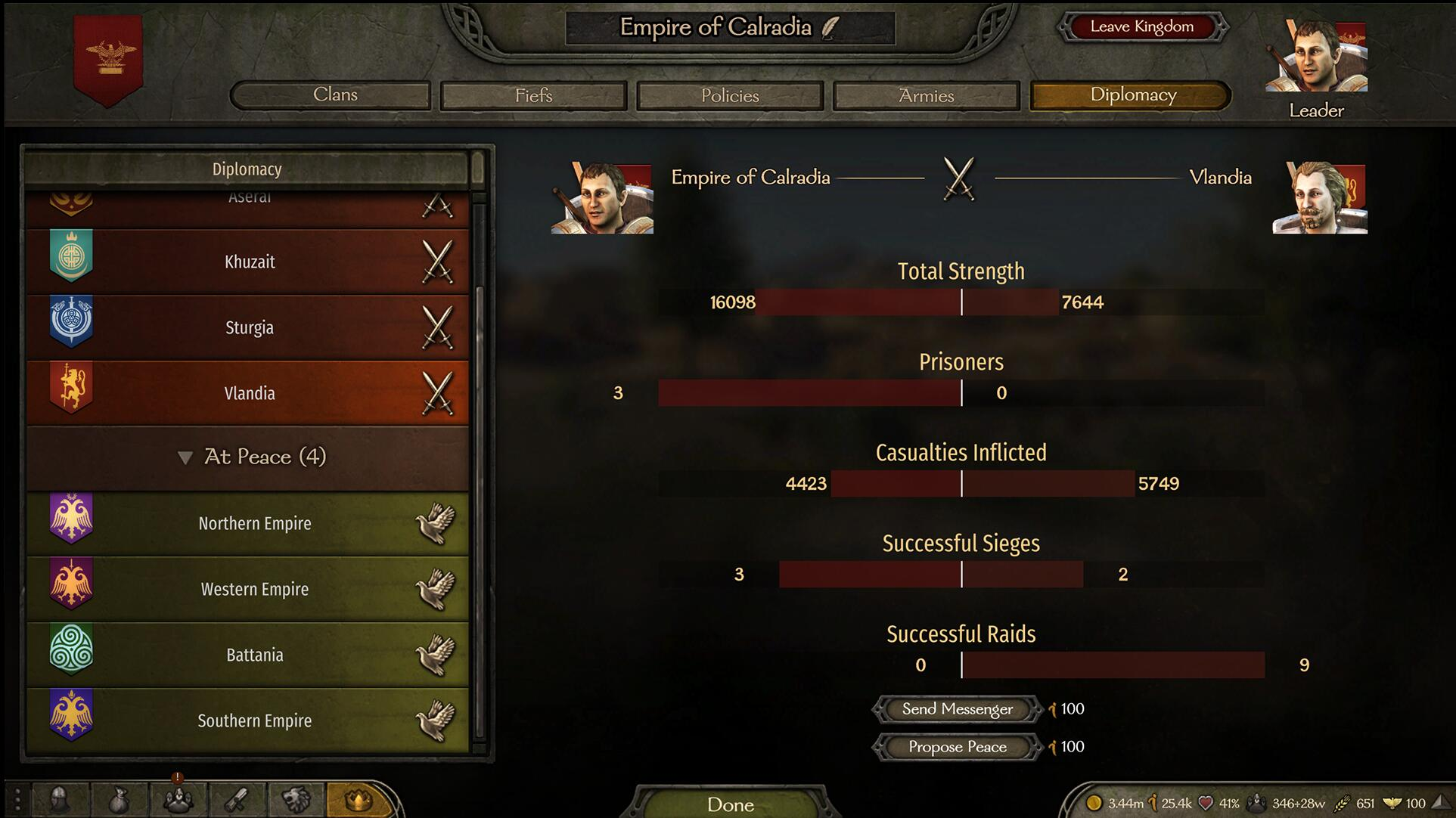 外交完善-在王国面板增加宣战议和谈判等功能![Diplomacy Fixes]