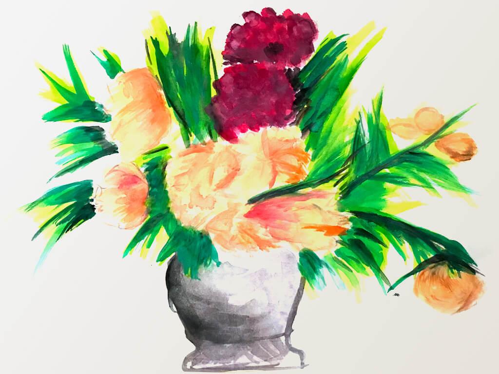 妈妈画的花