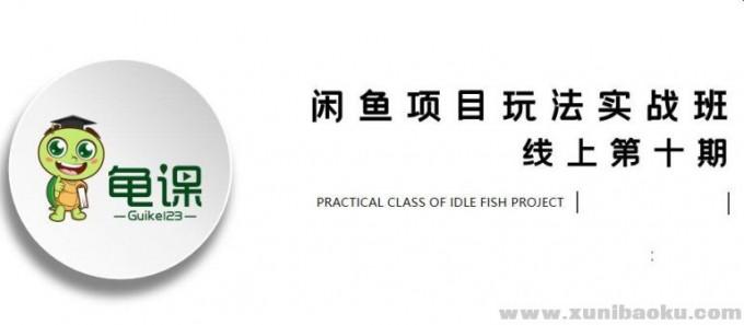 宅男龟课・闲鱼项目玩法实战班第10期第1节:行业市场分析及前期准备细节(无水印)