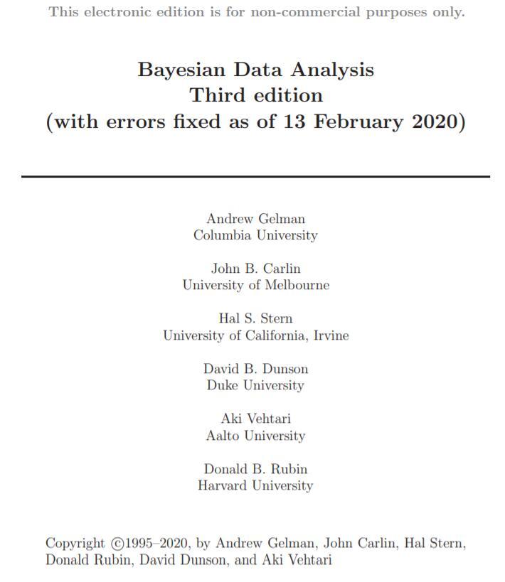 贝叶斯数据分析第三版pdf免费下载