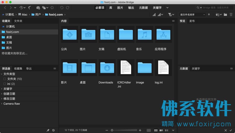文件管理浏览软件 Adobe Bridge 2020 for Mac 中文直装版
