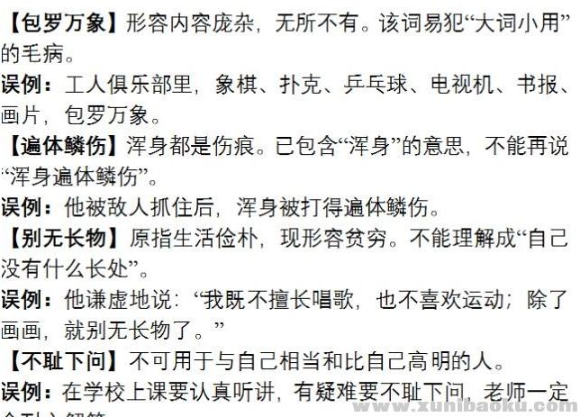 近5年中考易错成语集锦Word文档下载