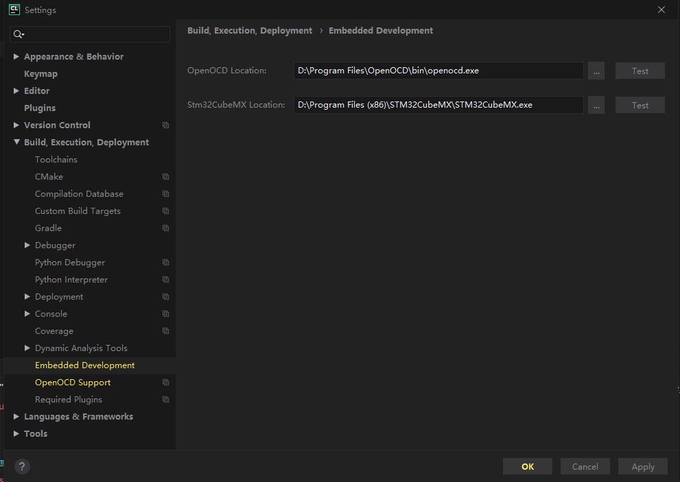 CLion_Setting_EmbeddedDevelopment