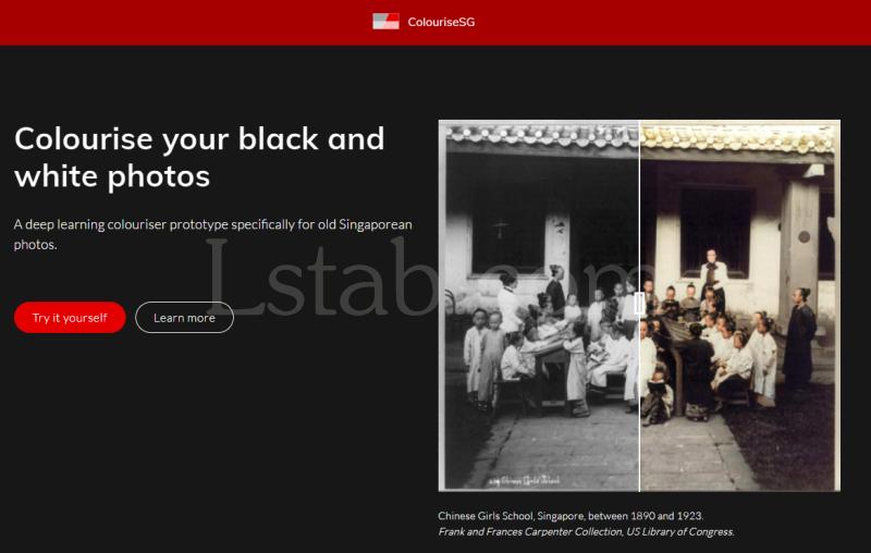 黑白照片自动上色的免费在线工具 ColouriseSG