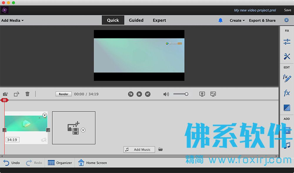 专业的视频编辑合成软件 Adobe Premiere Elements 2020 for Mac 英文直装版