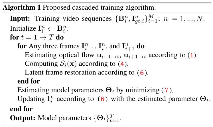 算法 1. 级联训练方法的主要步骤
