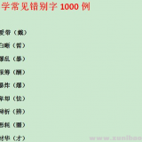 精心整理 小学常见错别字1000例Word文档下载