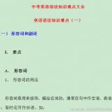 中考英语语法知识难点大全Word文档下载