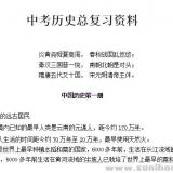 中考历史总复习资料Word文档下载