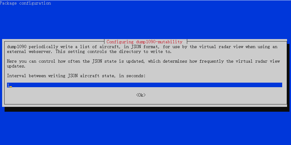 Interval between writing JSON aircraft state