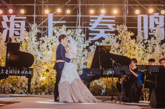 《海上奏鸣曲》正式上演 青岛东方影都首届海上婚礼秀华丽启幕