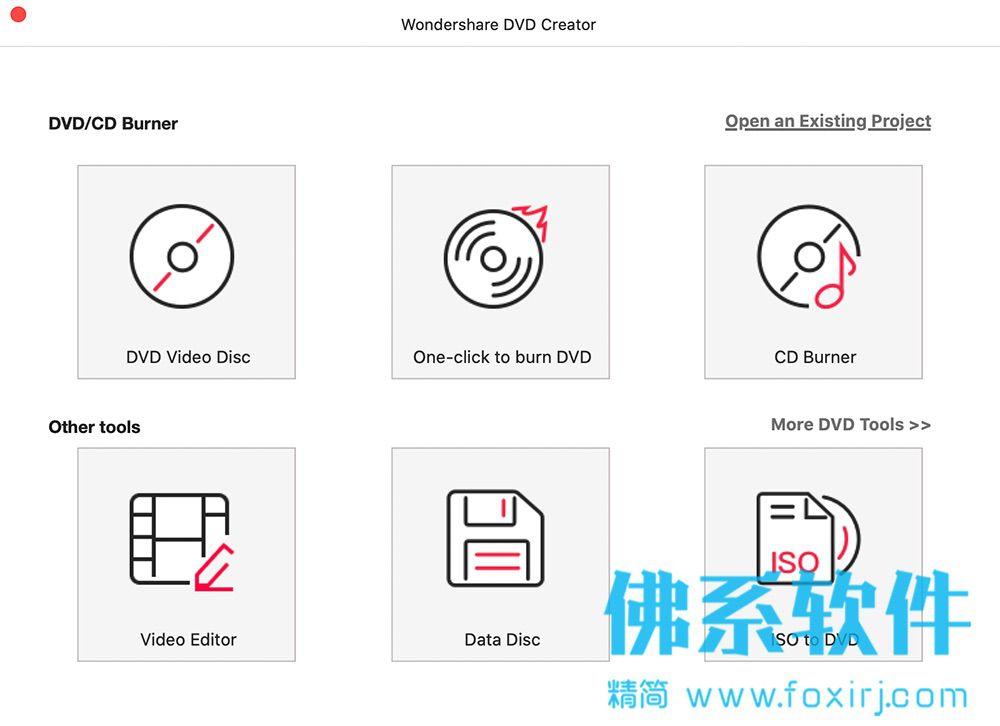 万兴DVD光盘刻录工具Wondershare DVD Creator for Mac 英文版