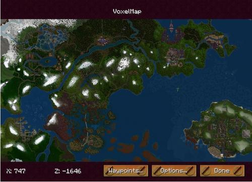 [模组推荐][1.14.4]Voxelmap小地图Mod