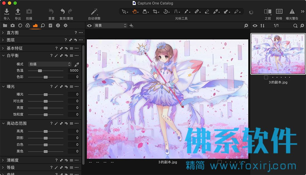 专业的RAW图像处理软件Capture One Pro 20 for Mac 中文版