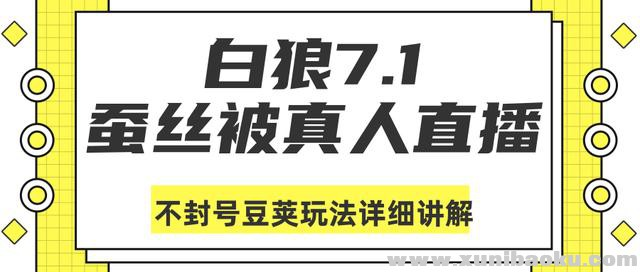 白狼敢死队7月1号最新抖音课程:蚕丝被真人直播不封号豆荚(dou+)玩法详细讲解