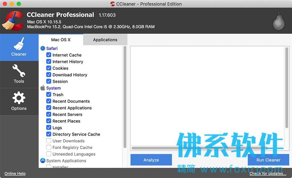专业的系统优化清理软件CCleaner Pro for Mac 英文专业版