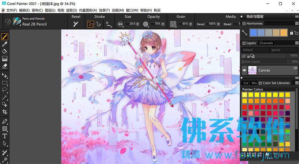 强大的数字艺术绘图软件Corel Painter 2020 for Mac 中文版