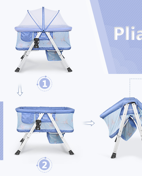Beige 120x60x76cm 2 roues Parc de voyage pour b/éb/é avec lit de voyage pliable avec filet de s/écurit/é lits de voyage pour b/éb/és sac de transport